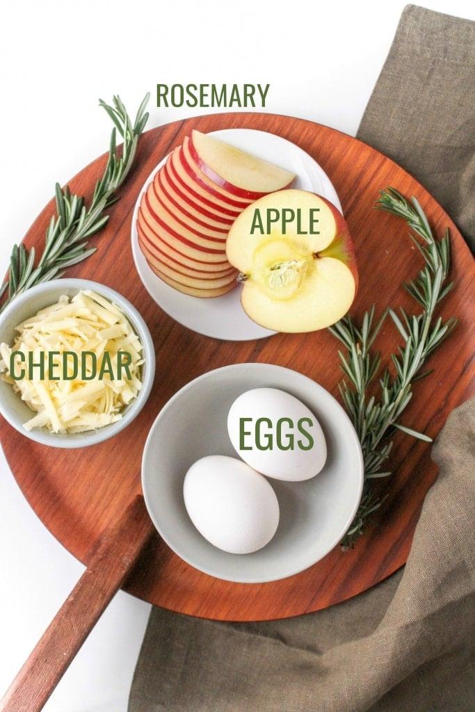 apple cheddar omelet ingredients