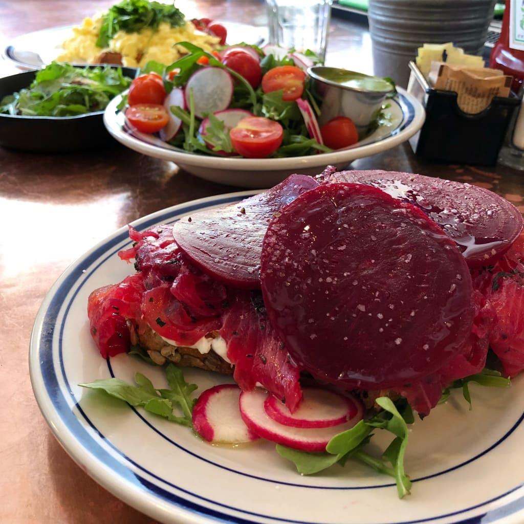 beet salmon brunch dukes counter