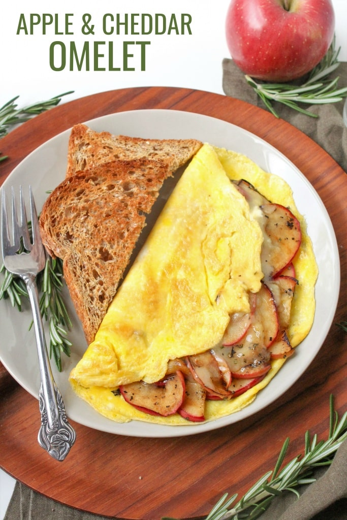 how to make an apple cheddar omelet