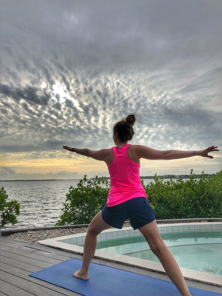 club med sandpiper bay outdoor yoga