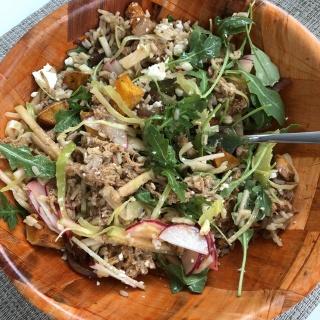 grain salad bowl leftovers butternut rice pork
