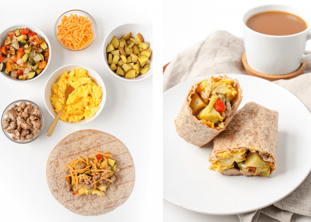 sausage breakfast burrito recipe