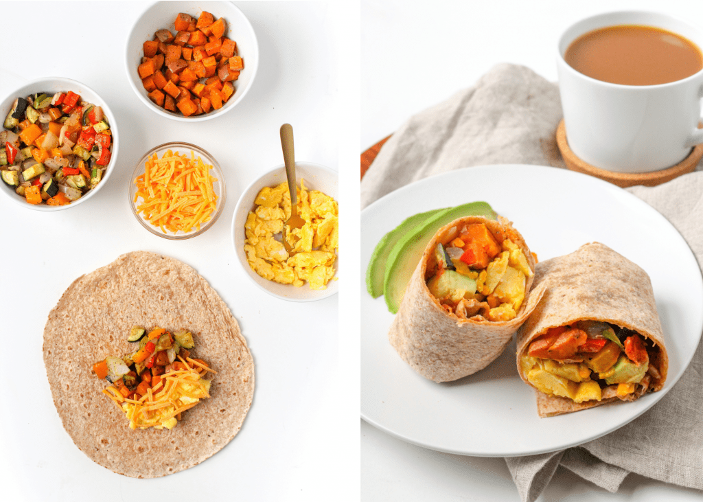 vegetarian breakfast burrito recipe with sweet potatoes