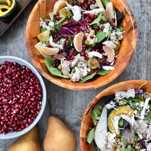 grain salad bowl pomegranate