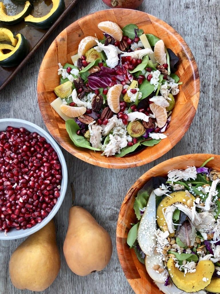 grain salad bowl pomegranate
