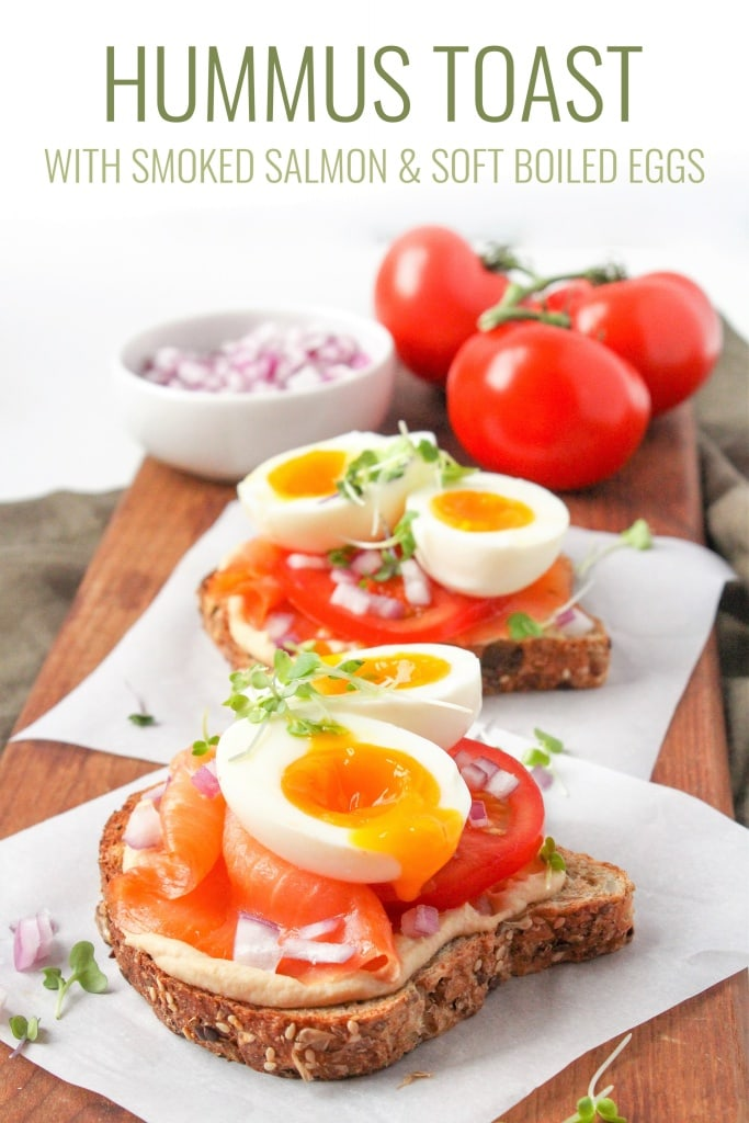 hummus toast recipe with smoked salmon