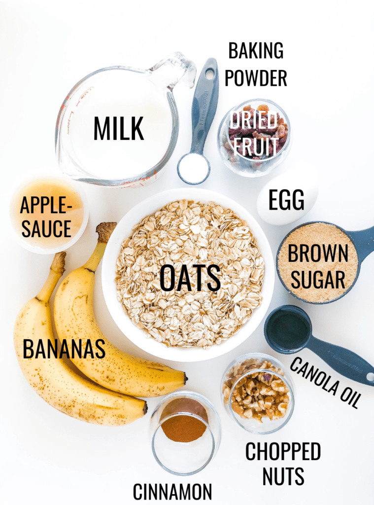 banana baked oatmeal ingredients