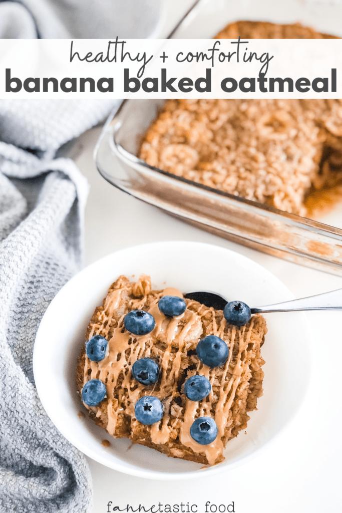 healthy banana baked oatmeal