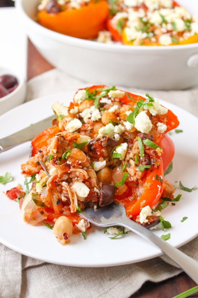 ways to use rotisserie chicken - stuffed peppers