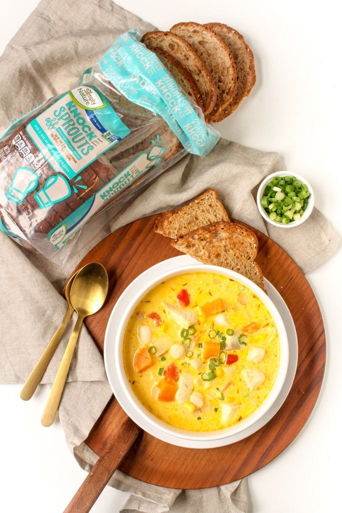 seafood and sweet potato chowder healthy recipe