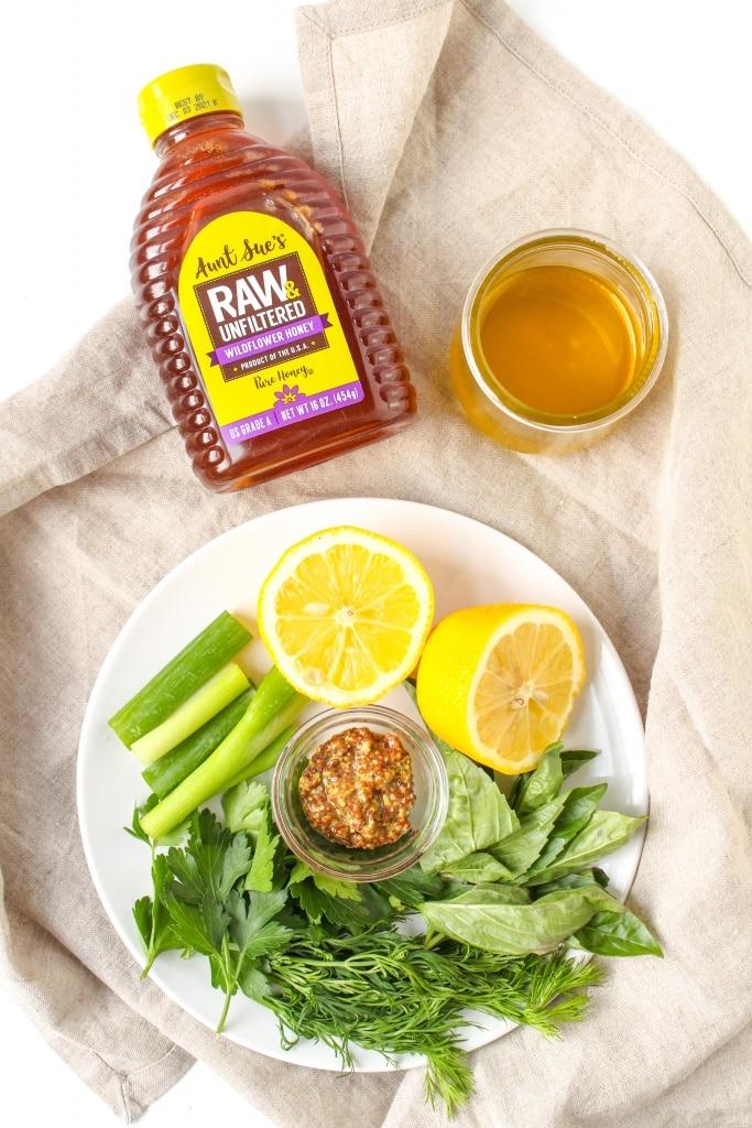how to make raw honey herb vinaigrette