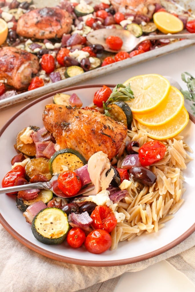 mediterranean sheet pan chicken recipe11