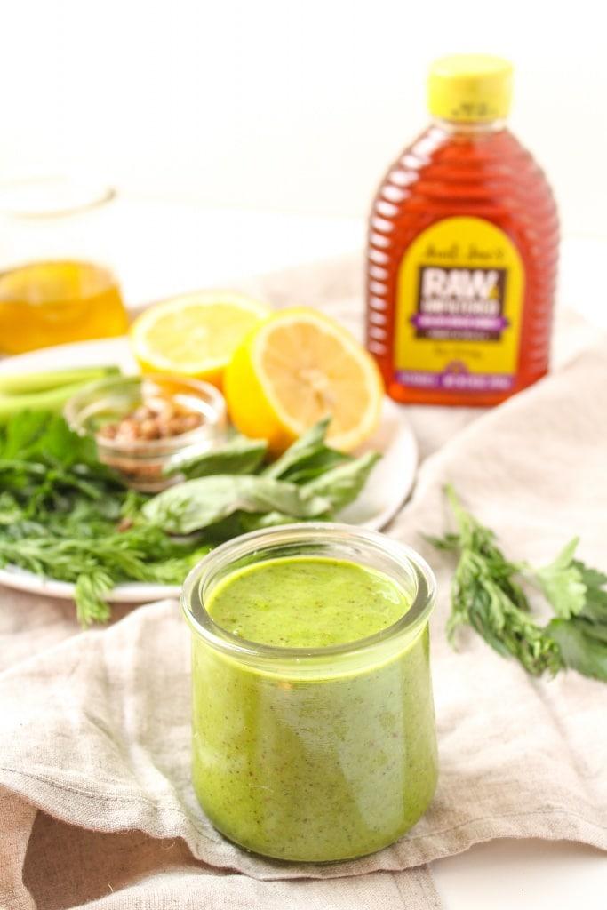raw honey herb vinaigrette