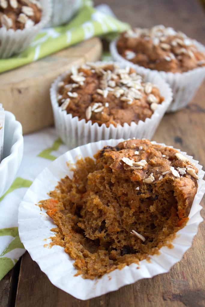 vegan muffins on a wooden platter