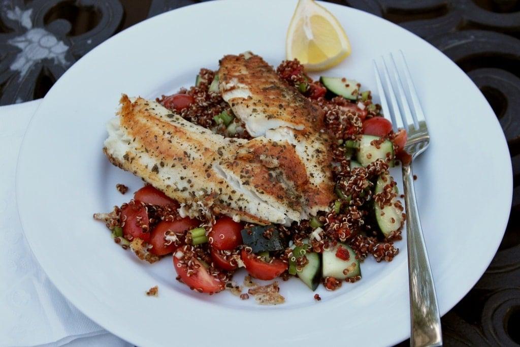 quinoa fish salad