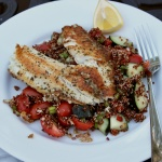 quinoa fish salad