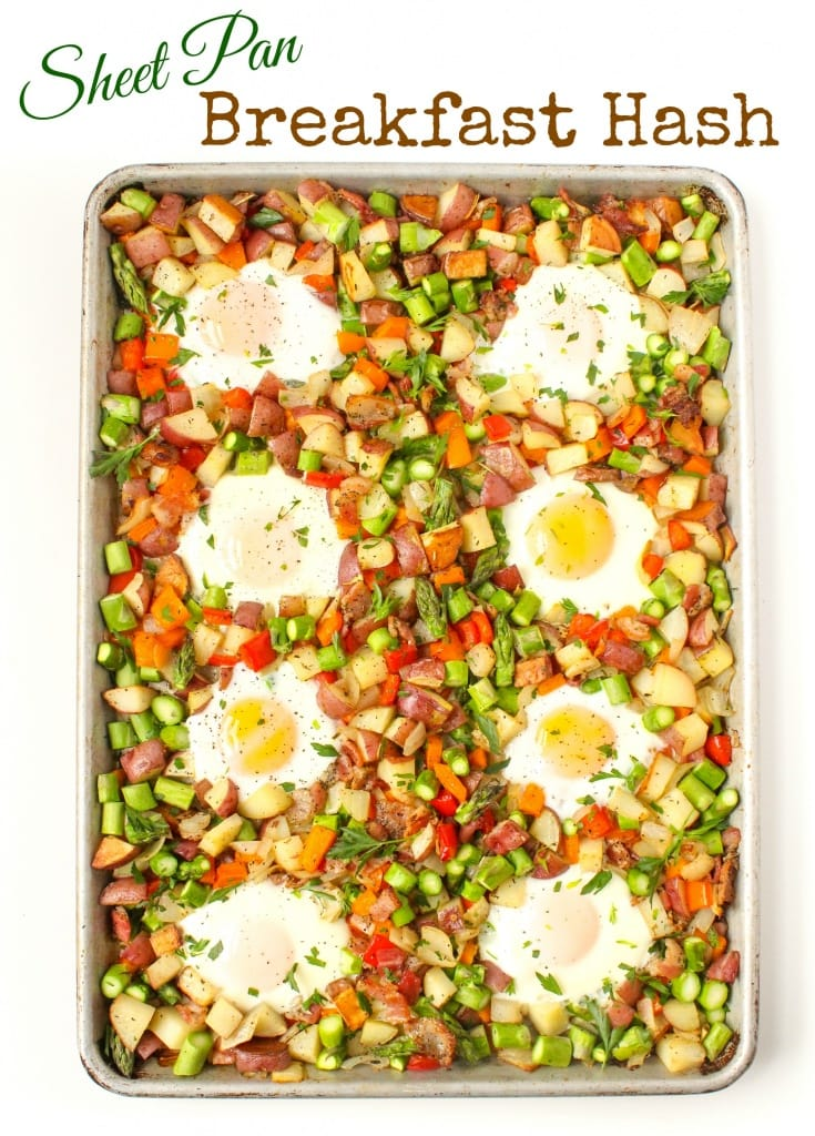sheet pan breakfast hash with veggies and bacon recipe