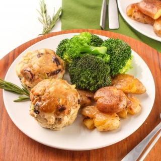 turkey dijon mini meatloaf muffins