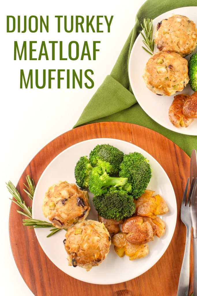 turkey dijon mini meatloaf muffins
