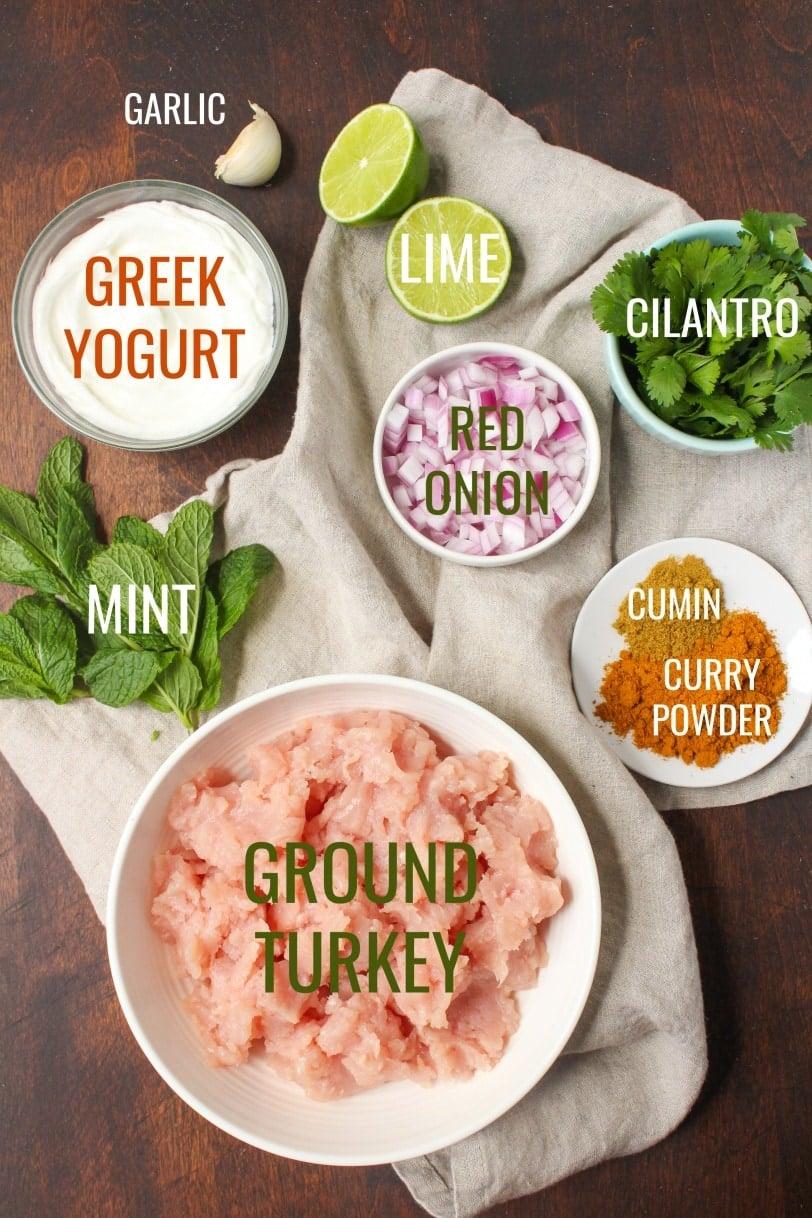 Curry Turkey Burgers Ingredients