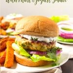 Curry Turkey Burgers with Mint Yogurt Sauce