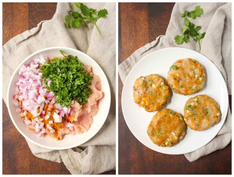 how to make curried turkey burgers