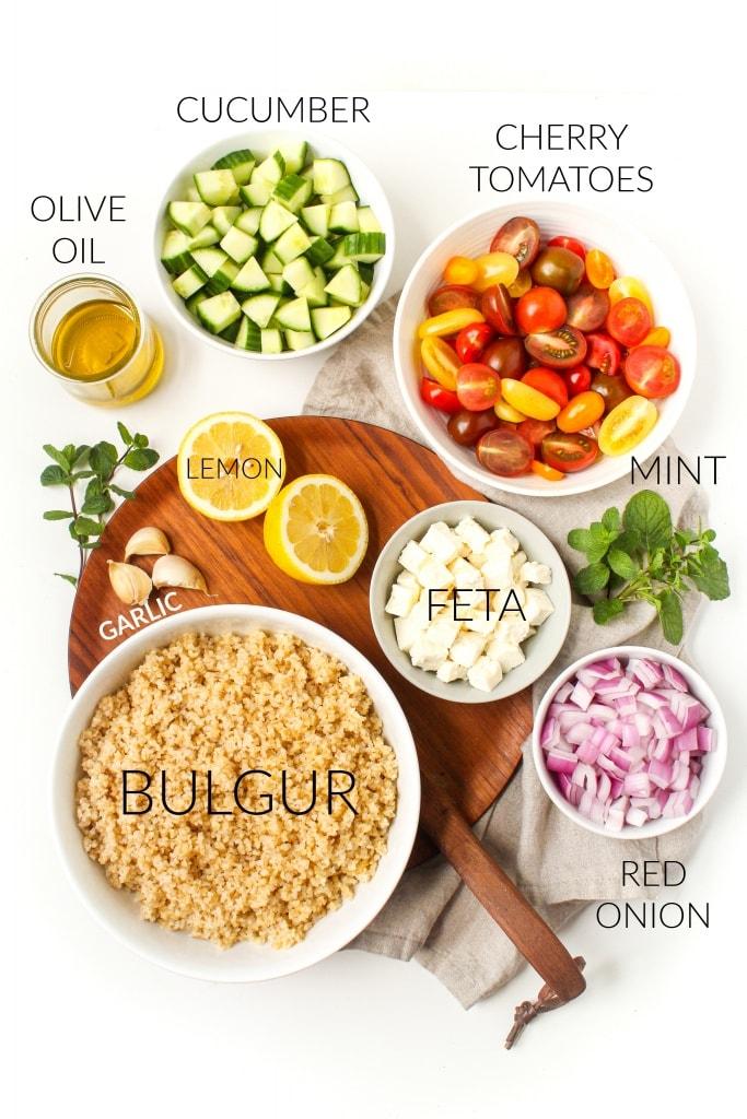 mediterranean bulgur salad ingredients