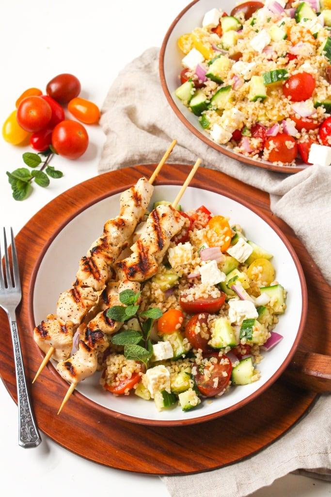mediterranean bulgur salad with chicken3