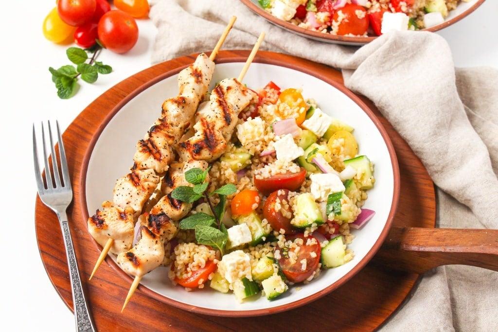 mediterranean bulgur salad with chicken4
