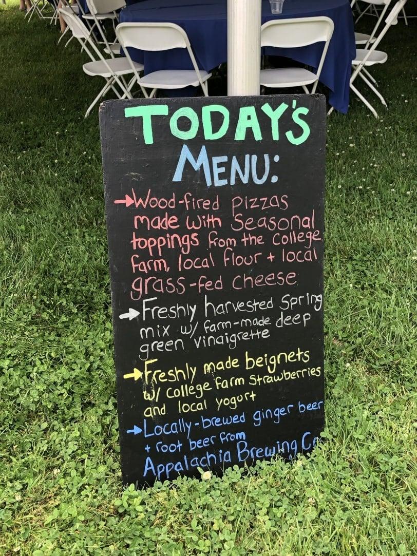 dickinson college farm alumni weekend lunch