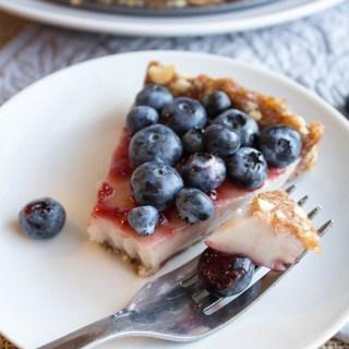 no bake blueberry pie