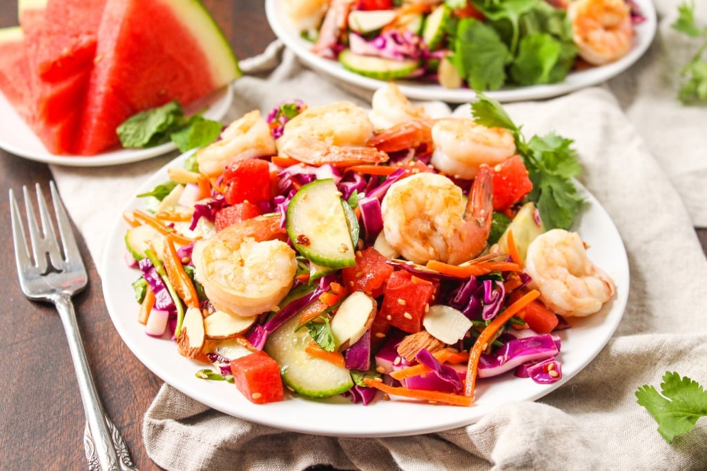 sesame shrimp watermelon salad3