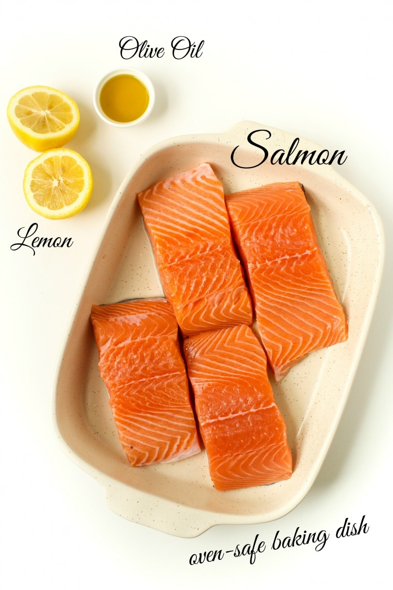 simple lemon baked salmon ingredients