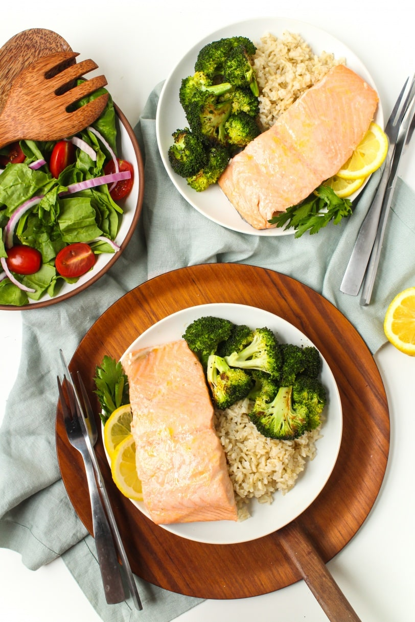 super easy baked lemon salmon
