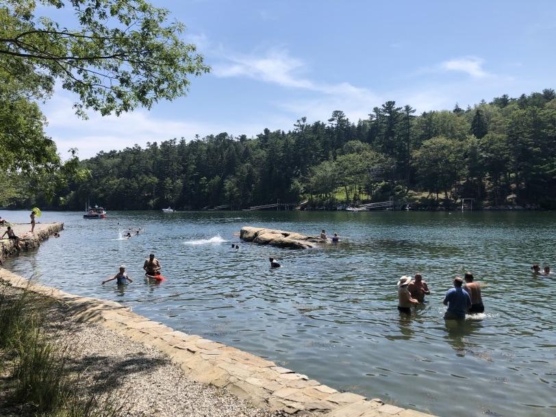 barrett park swimming maine