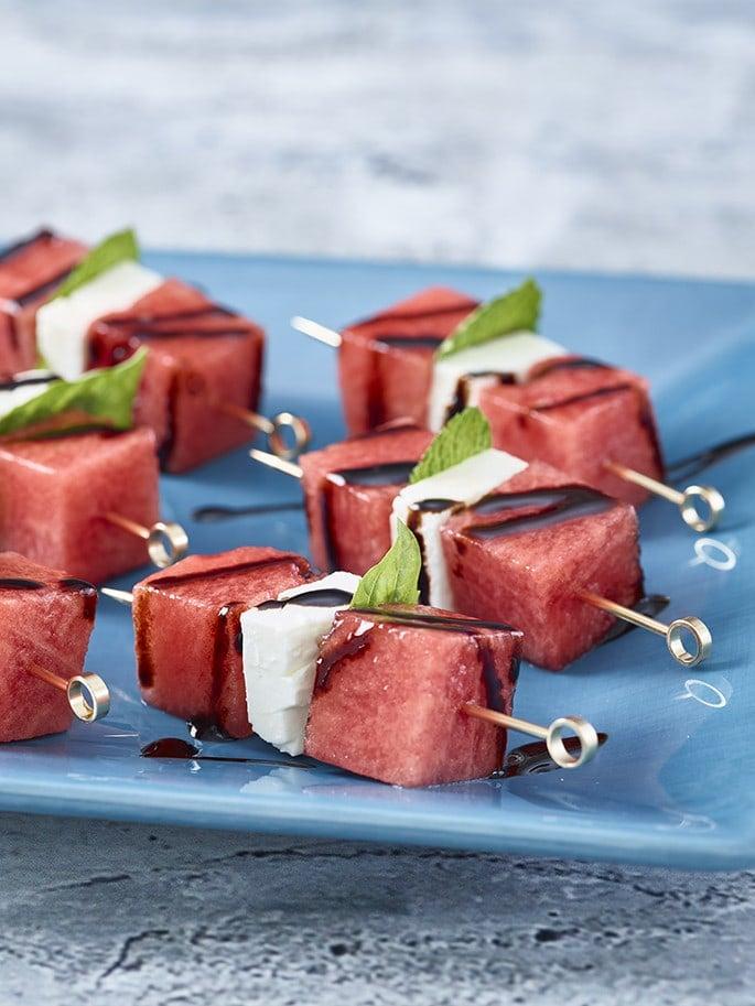 watermelon feta skewers