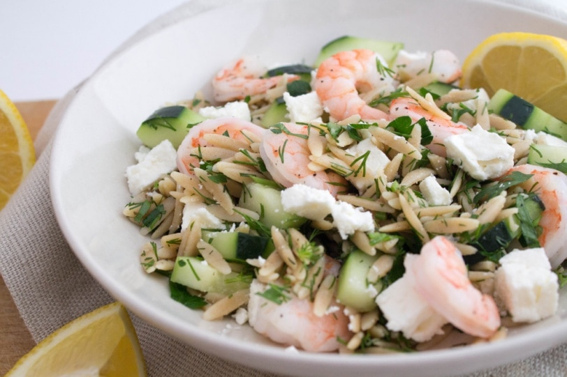 , Cucumber, and Feta Orzo Salad