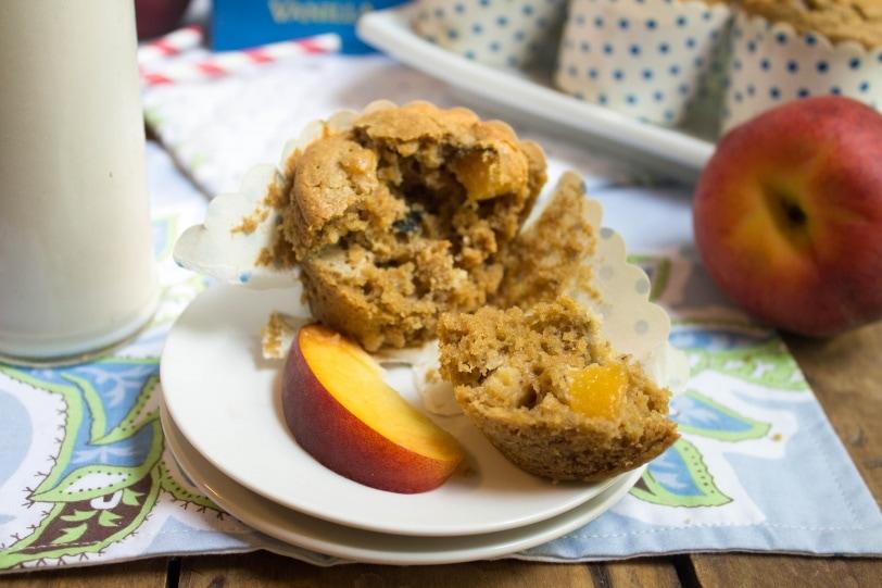 Dairy & Gluten-Free Peach Muffins