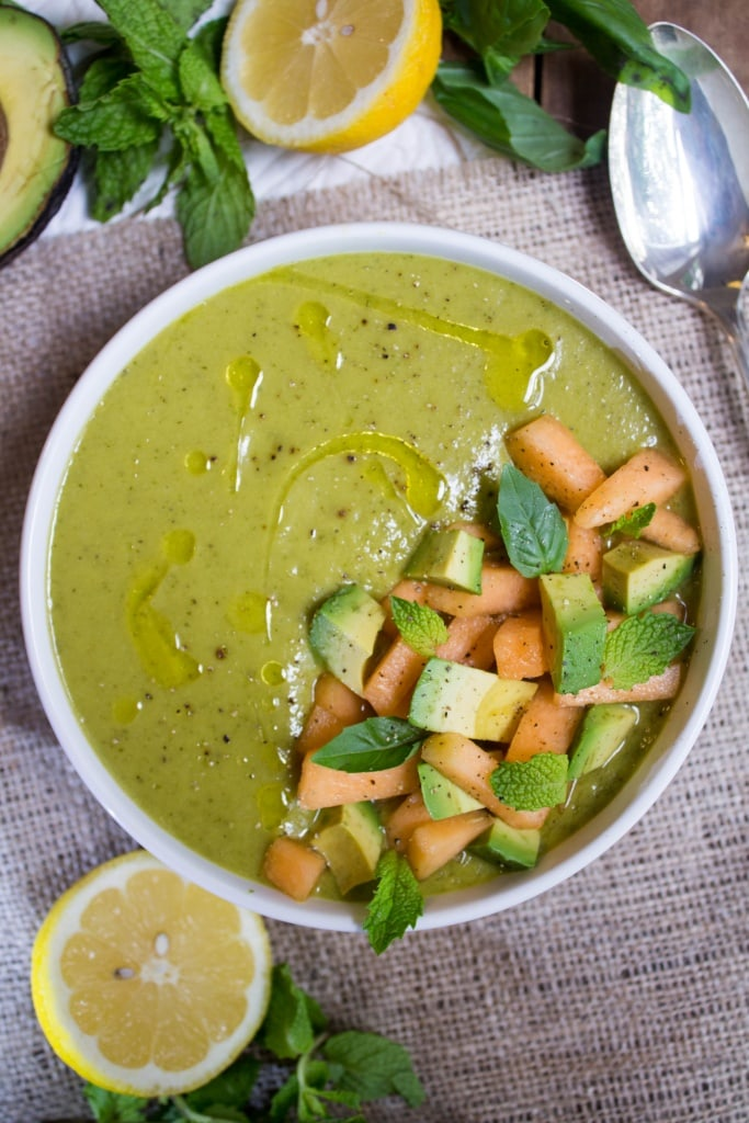 Recipes Using Summer Produce - Cantaloupe and Avocado Soup