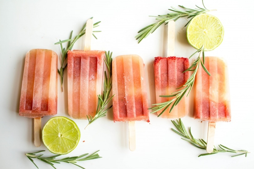 Watermelon Rosemary Popsicles