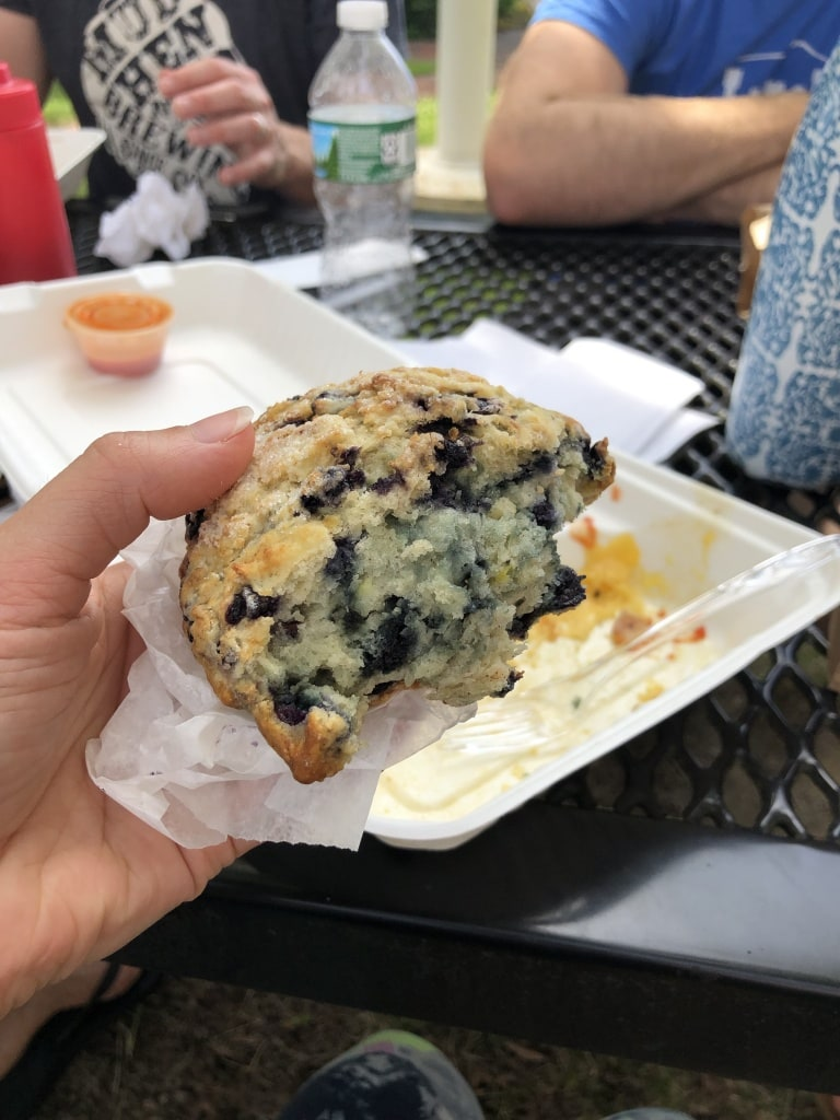 cafe creme bath maine blueberry scone