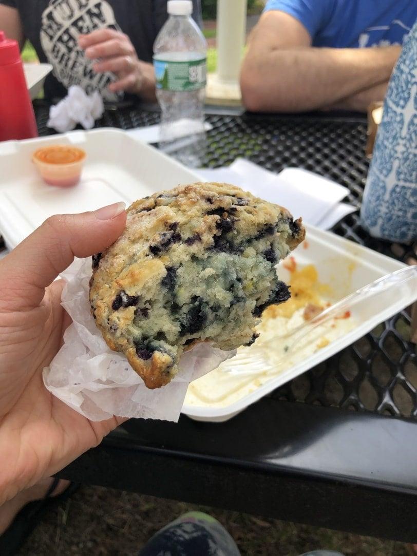 cafe creme bath maine blueberry scone
