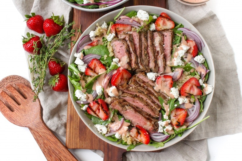 Steak and Strawberry Salad with Strawberry Vinaigrette