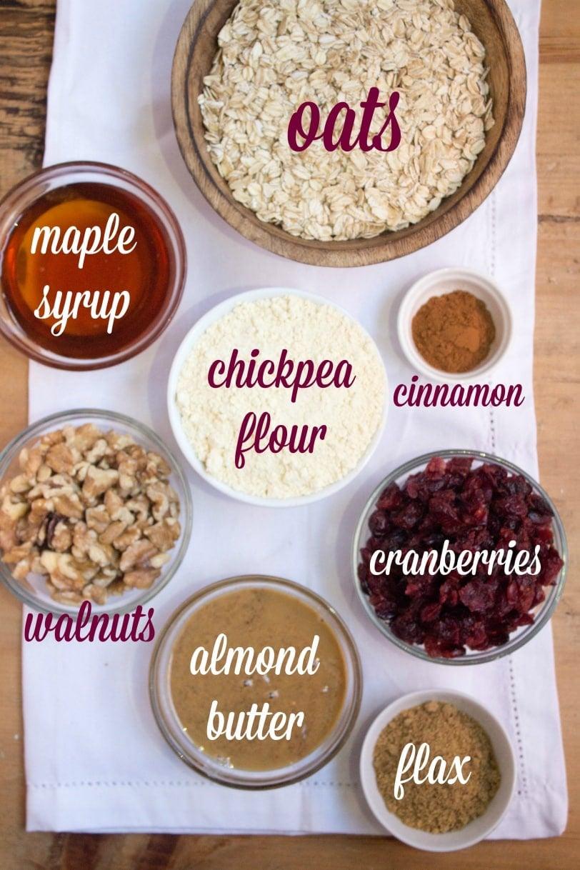 vegan gluten free granola bar ingredients