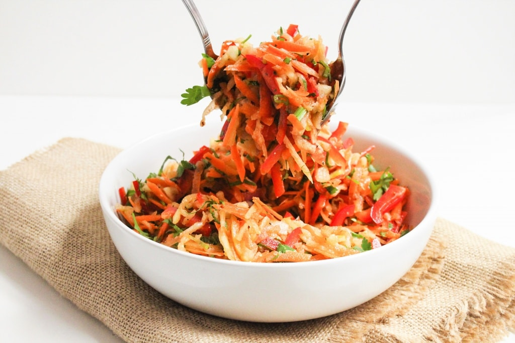 Recipes Using Summer Produce - Watermelon Rind Coleslaw