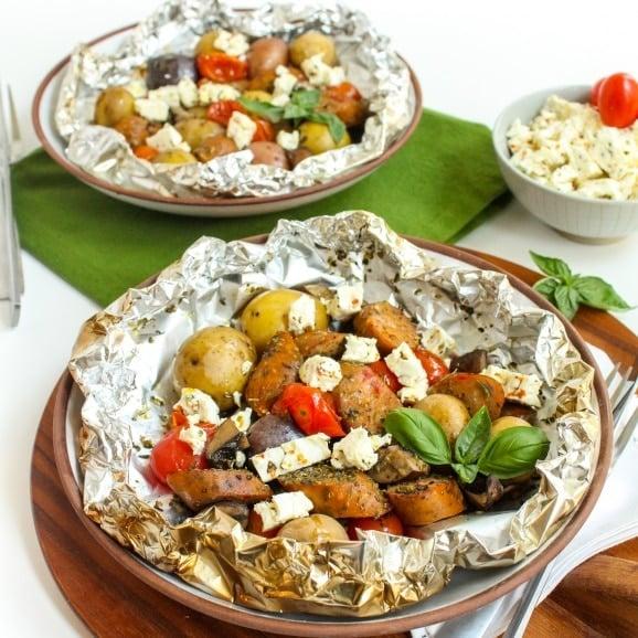 Italian Sausage & Veggie Foil Packets