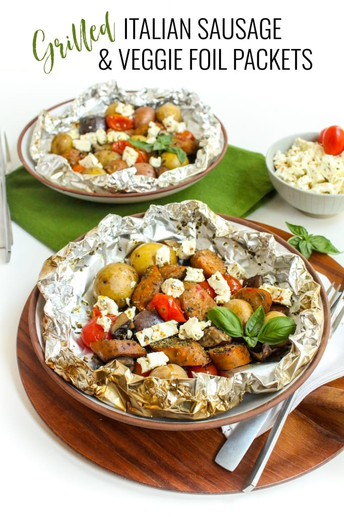 Italian Sausage & Veggie Foil Packets