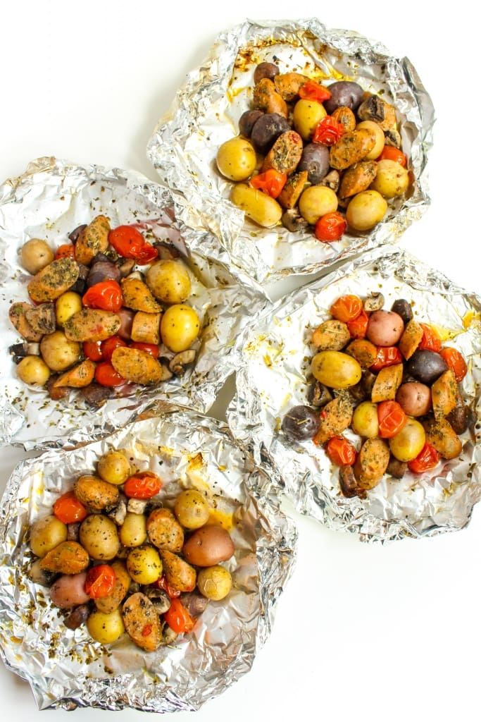 sausage and veggie foil packets recipe5