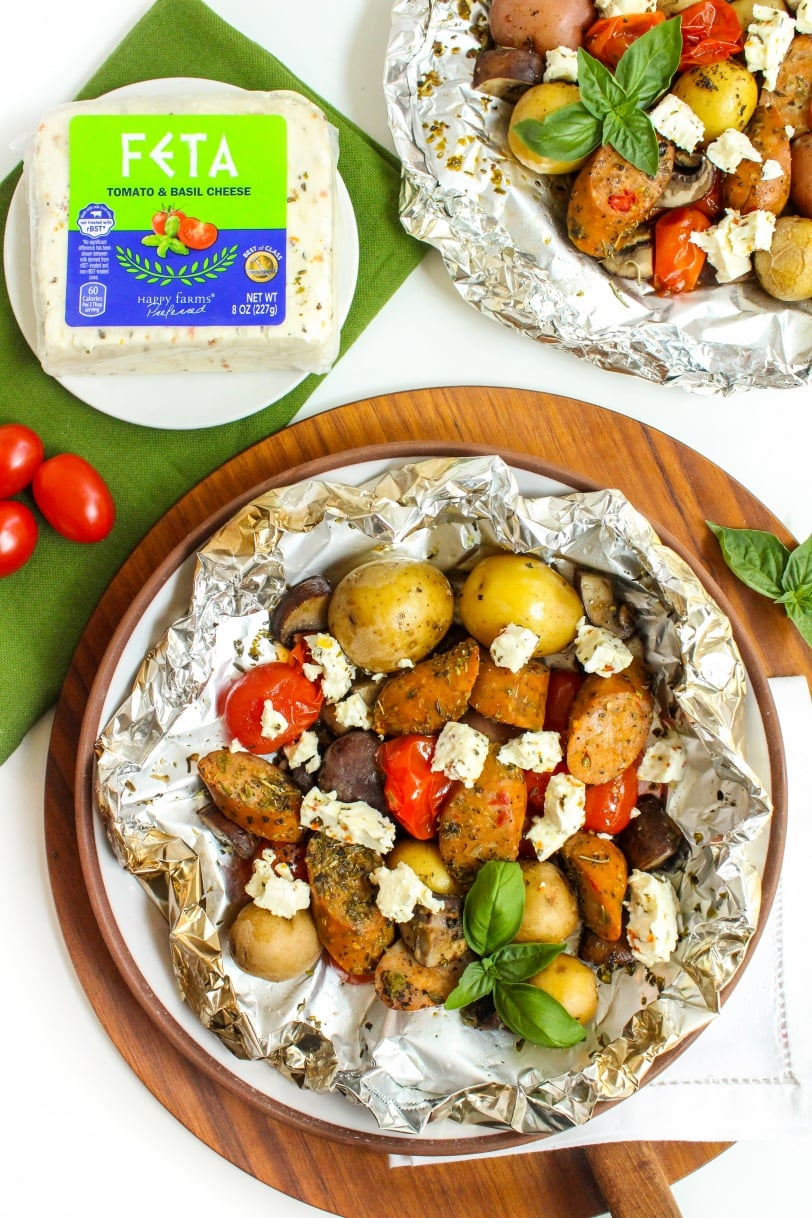 sausage and veggie foil packets recipe