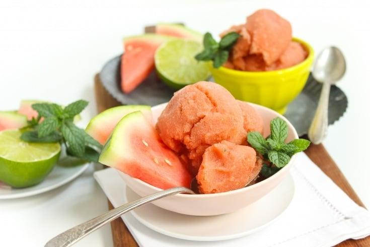 Watermelon Mojito Sorbet